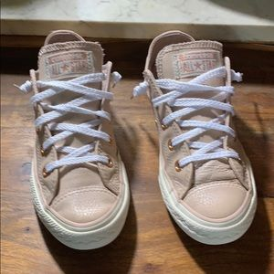 Converse size 1 pink leather